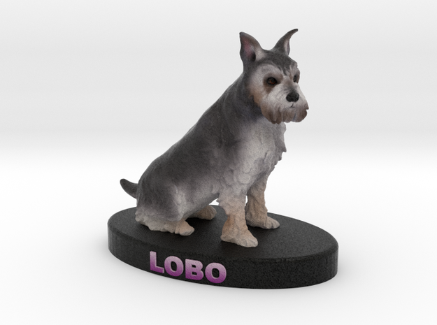 Custom Dog Figurine - Lobo 3d printed