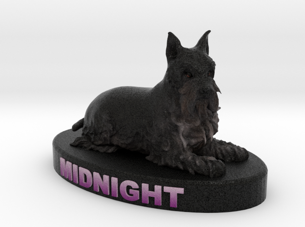 Custom Dog Figurine - Midnight 3d printed
