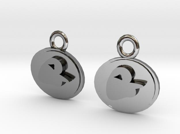 Phantom Of The Opera Earrings in Fine Detail Polished Silver