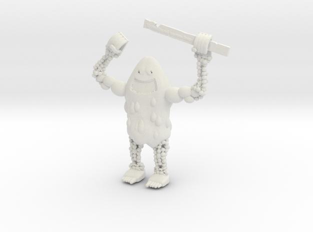 Fruit Monster in White Natural Versatile Plastic
