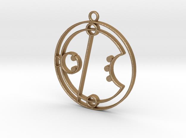 Erica / Erika - Necklace in Matte Gold Steel