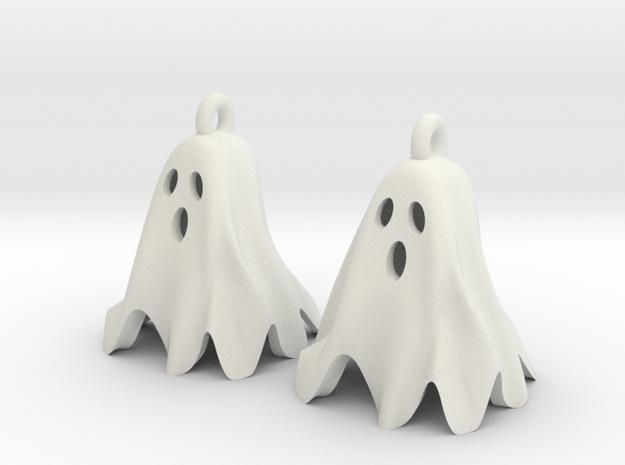 Ghost Earrings in White Strong & Flexible