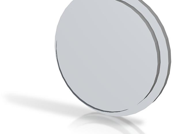 Blank Pommel Insert in White Natural Versatile Plastic