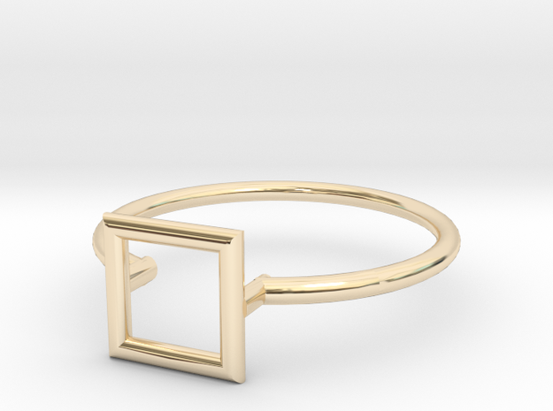 Open Square Ring Sz. 5 in 14K Yellow Gold