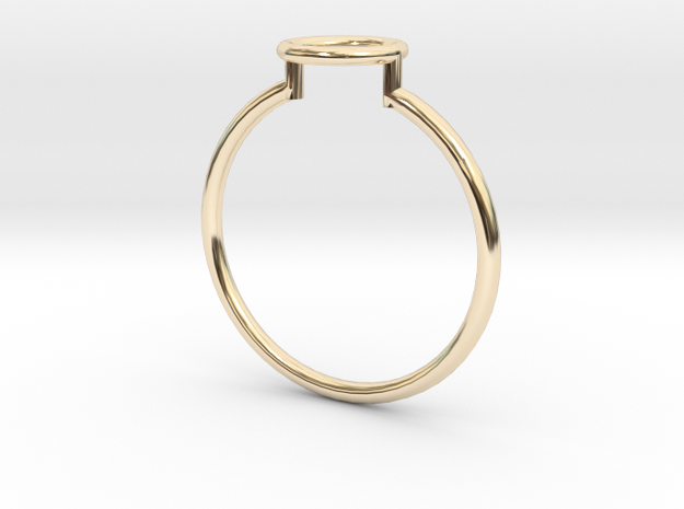 Open Circle Ring Sz. 6 in 14K Yellow Gold