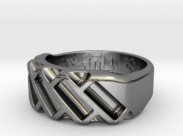 US7 Ring XVII: Tritium in Polished Silver
