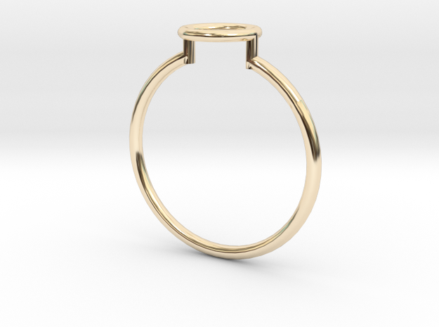 Open Circle Ring Sz. 8 in 14K Yellow Gold
