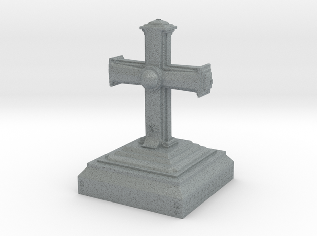 The Cross in Polished Metallic Plastic
