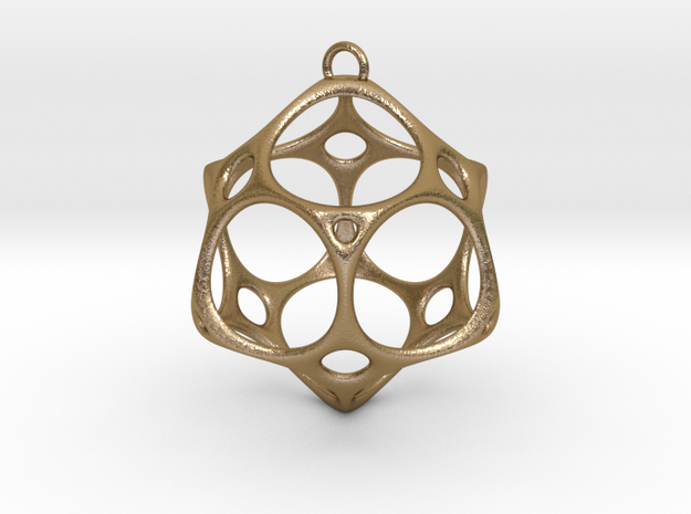 Christmas Bauble No.2 in Polished Gold Steel