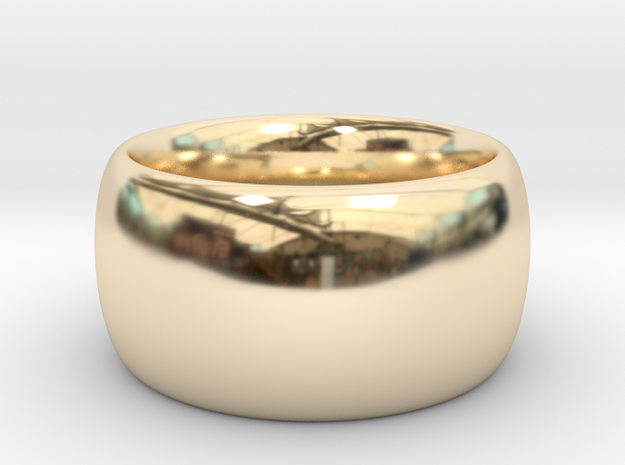 Ring Scaled 20 percent inner 30 percent outer in 14K Gold