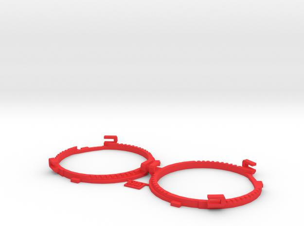 67.5mm Lens Separators | Oculus Rift DK2 in Red Processed Versatile Plastic