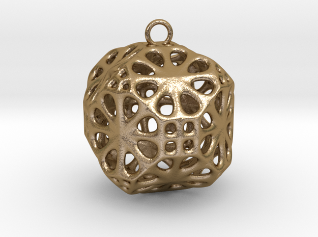 Christmas Bauble No.3 in Polished Gold Steel