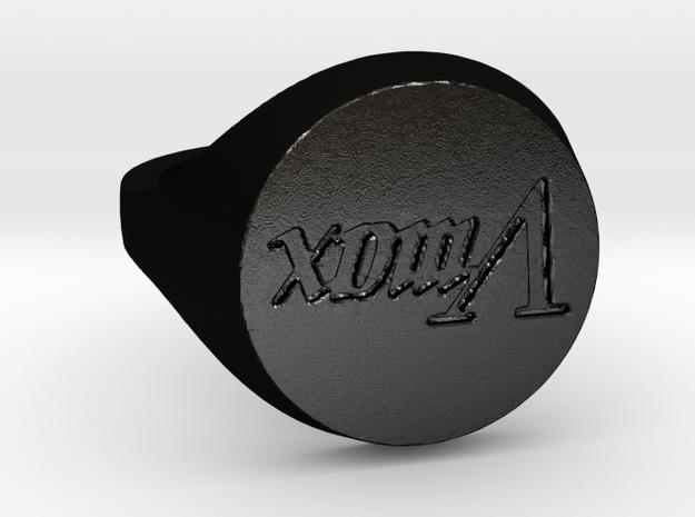 Bague Vmax (ShapeJS) T54 in Matte Black Steel