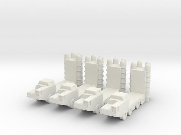 1/350 S-300 (SA-20 Gargoyle) SAM (x4) in White Natural Versatile Plastic