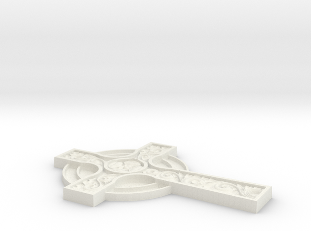 3D CROSS CNC in White Natural Versatile Plastic