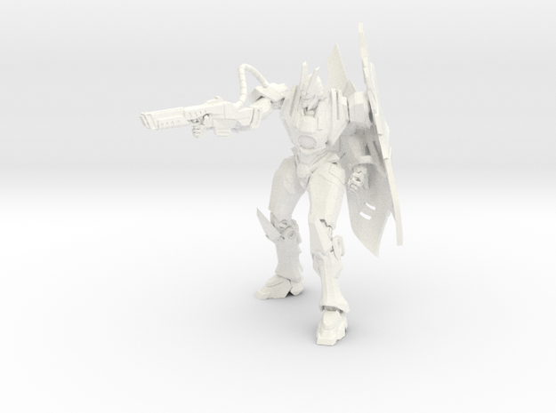 Ryu - Lightning / Ryu - Rayo in White Processed Versatile Plastic