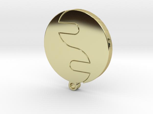 JingJang pendant in 18k Gold