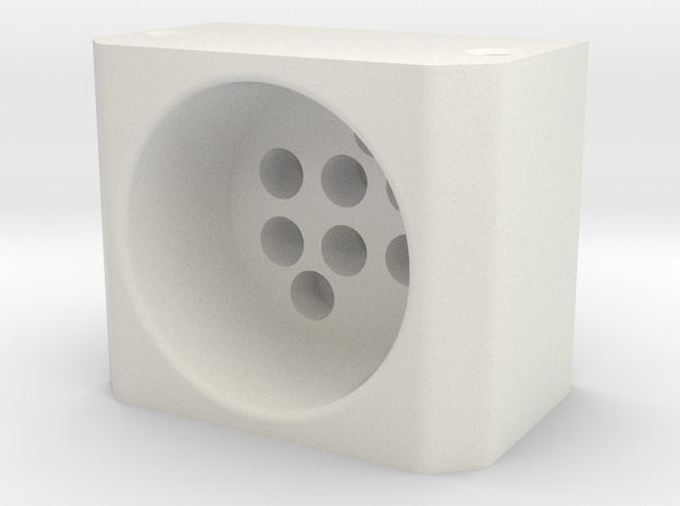 Quick release frame part for 28mm tube in White Strong & Flexible
