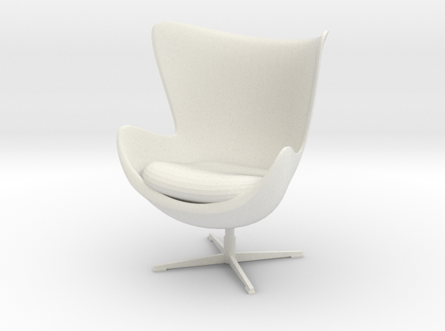 Egg Chair by Arne Jacobsen in White Natural Versatile Plastic