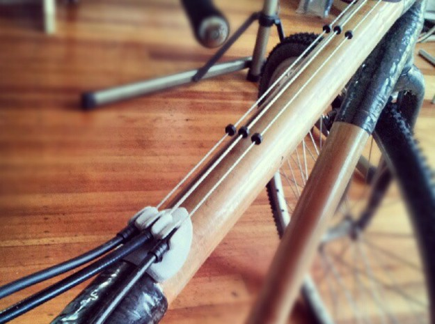 Bicycle Triple Cable Stop - Bamboo / Carbon Frame 3d printed
