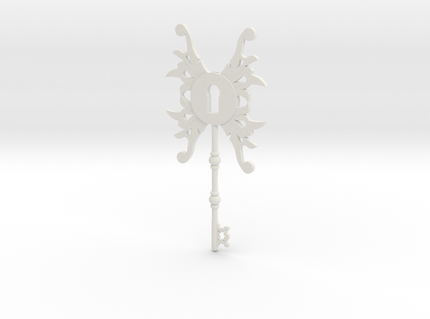 Steampunk Key  in White Natural Versatile Plastic