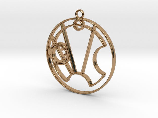 Stella - Necklace in Polished Brass