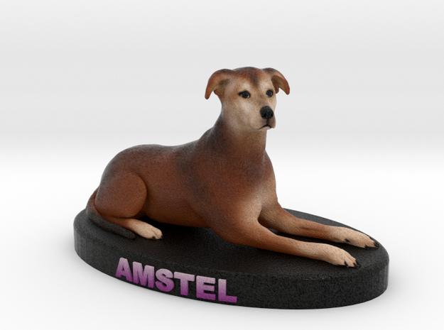 Custom Dog Figurine - Amstel in Full Color Sandstone