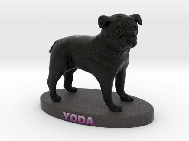 Custom Dog Figurine - Yoda 3d printed