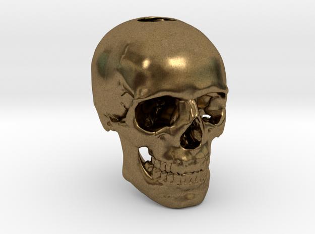 25mm 1in Keychain Bead Human Skull
