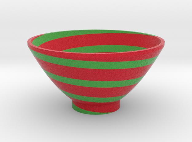 DRAW bowl - segmented F in Full Color Sandstone