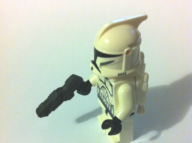Custom futuristic shotguns x4 for Lego minifigs in White Strong & Flexible