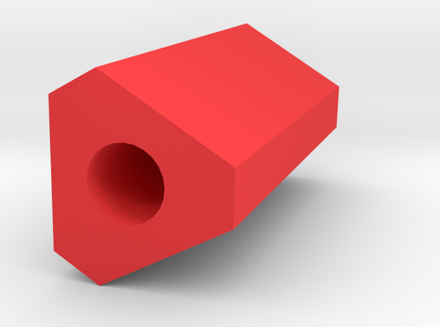 Trigun Barrel Tip 50mm Long (14mm Self-Cutting) in Red Strong & Flexible Polished