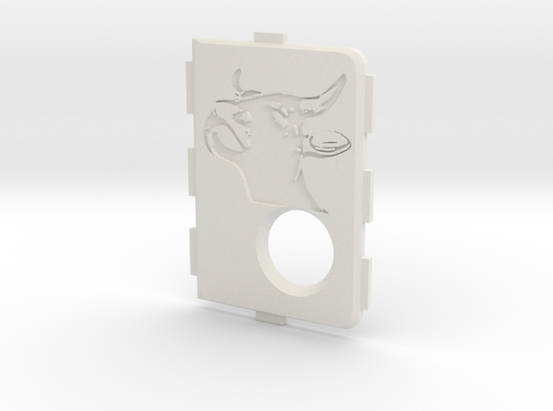 MarkV Cover  - Bull in White Natural Versatile Plastic