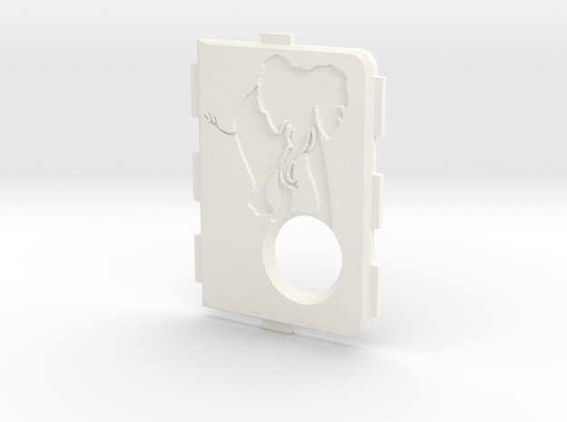 MarkV Cover  - Elephant 1 in White Strong & Flexible Polished