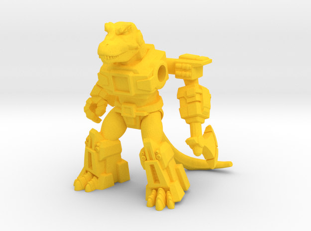 Crazed Carnotaurus in Yellow Strong & Flexible Polished