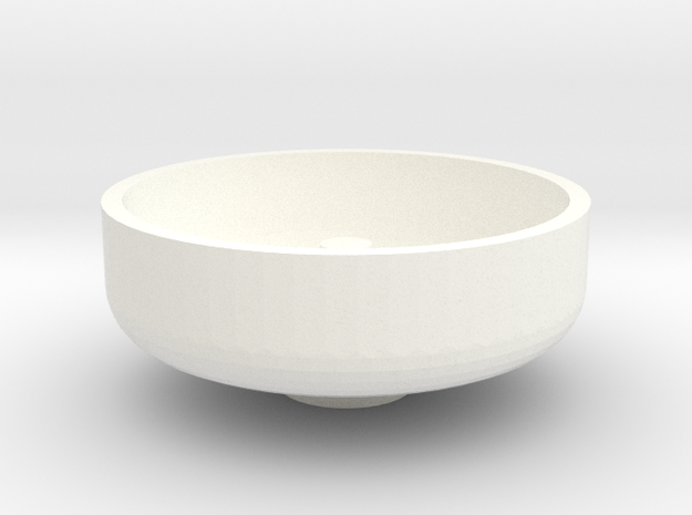 """3/4"""" Scale Nathan Whistle Bowl in White Processed Versatile Plastic"""