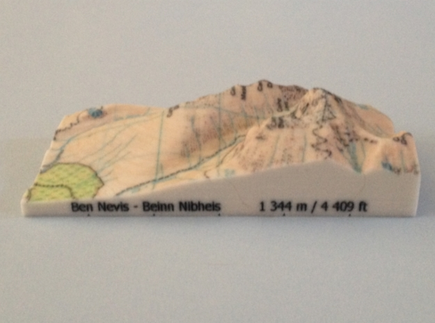 Ben Nevis - Map in Full Color Sandstone