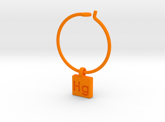 Element Wine Charm - Hg 3d printed