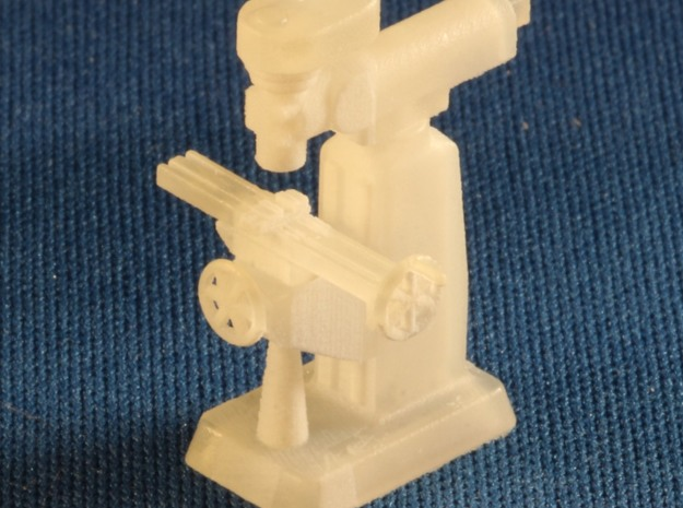 Bridgeport Style Milling Machine S Scale in Smooth Fine Detail Plastic