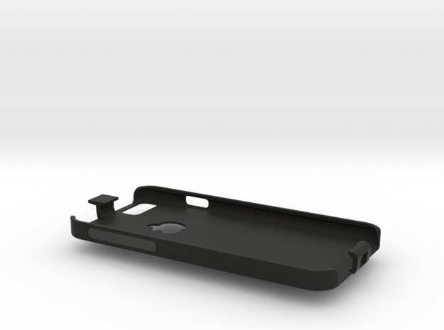 iPhone 6 case with lanyard loop in Black Strong & Flexible