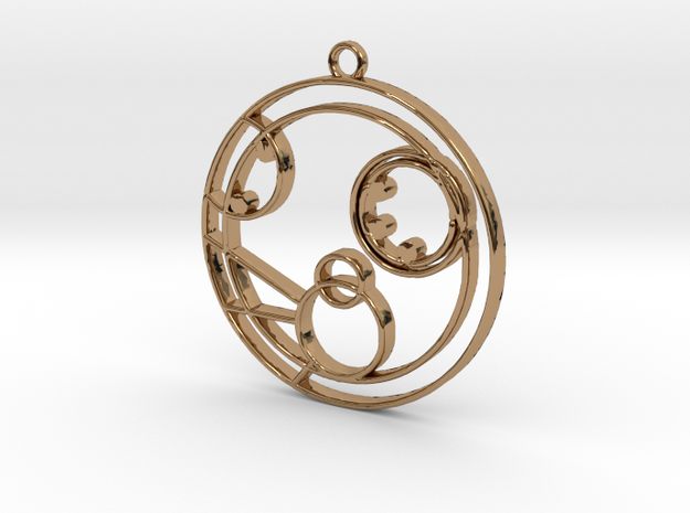 Molly - Necklace in Polished Brass