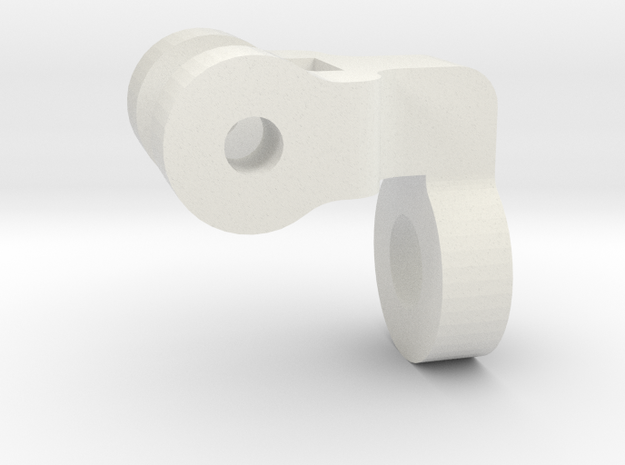 """3/4"""" Scale Nathan Whistle Handle Support in White Natural Versatile Plastic"""