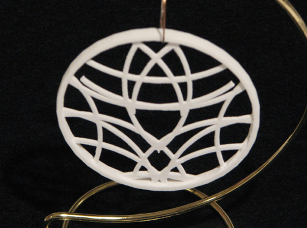 Ornament 01d in White Natural Versatile Plastic