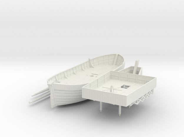 Swedish Warship V2 in White Natural Versatile Plastic