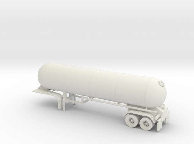 HO 1/87 LPG 40' twin-axle tanker, trailer 15 in White Natural Versatile Plastic