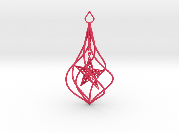 Christmas Tree Ornament (Bauble) - Spinning Star 3d printed Christmas Tree Ornament