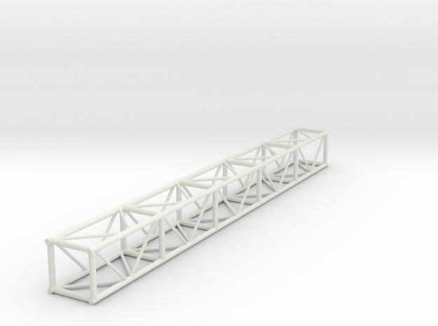 "1:24 10' 12""x12"" Box Truss in White Natural Versatile Plastic"