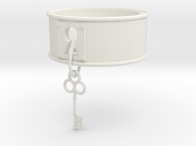 Lock And Key Ring Band Size 8 in White Natural Versatile Plastic