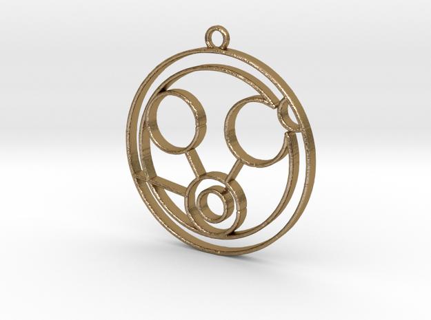 Megan - Necklace in Polished Gold Steel