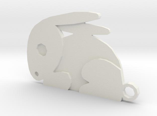 Rabbit in White Natural Versatile Plastic